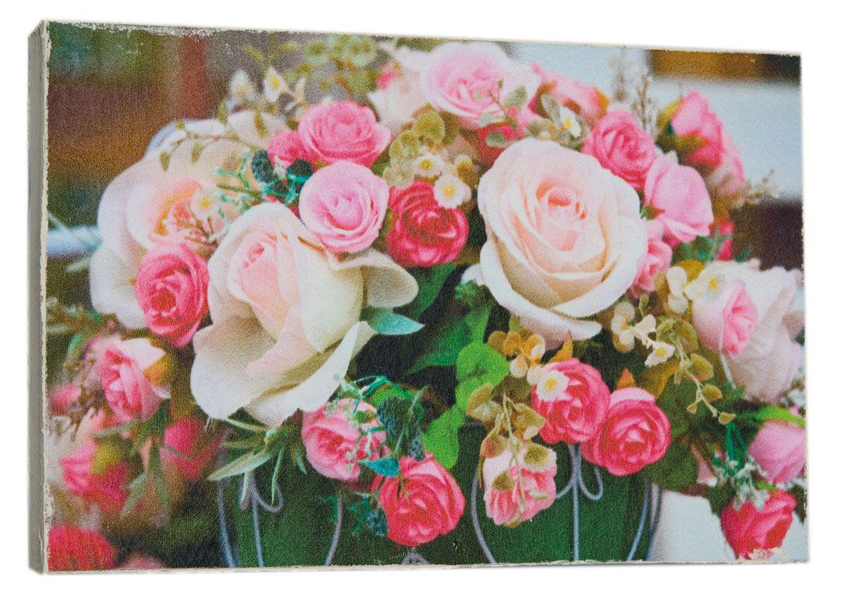 Картина Mister Poster Букет милых роз, 22 х 14,5 см0401-15-22Картина Mister Poster - это высококачественная репродукция на деревянной раме. Лицевая поверхность имитирует штукатурку или натуральный холст, края окрашены вручную специальным декоративным составом. Современные технологии, уникальное оборудование и оригинальные чернила, используемые при изготовлении, делают постер устойчивым к выцветанию, а также гарантируют стойкость к воздействию негативных внешних факторов. Интерьер дома и офиса, в котором находится человек, в значительной степени влияет на его настроение и работоспособность. Правильное оформление интерьера создает благоприятный психологический климат, улучшает настроение и мотивирует. Добавьте «красок» в ваш интерьер и, возможно, в вашу жизнь.