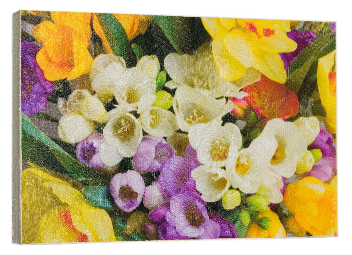 Картина Весенние красивые цветы, 14,5 х 22 см