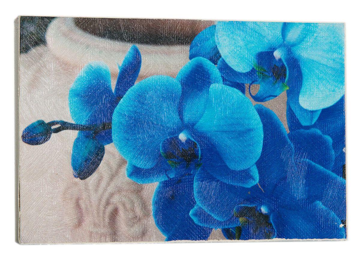 Картина Голубые орхидеи, 14,5 х 22 см0421-15-22
