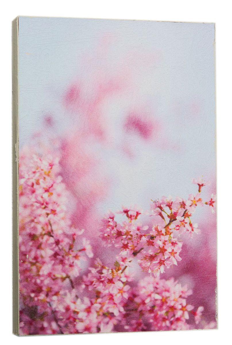 Картина Розовые вишни сакуры, 14,5 х 22 см