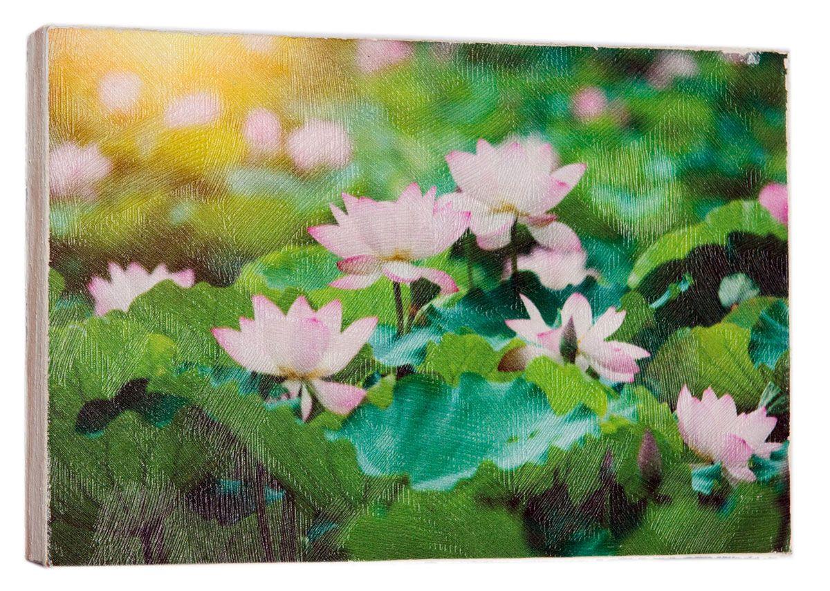 Картина Mister Poster Розовые цветки лотоса, 22 х 14,5 см0436-15-22