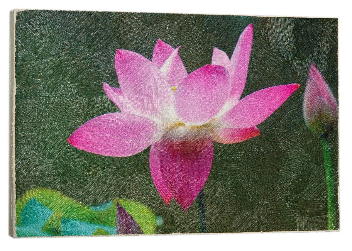 Картина Mister Poster Волшебный розовый лотос, 22 х 14,5 см0465-15-22Картина Mister Poster - это высококачественная репродукция на деревянной раме. Лицевая поверхность имитирует штукатурку или натуральный холст, края окрашены вручную специальным декоративным составом. Современные технологии, уникальное оборудование и оригинальные чернила, используемые при изготовлении, делают постер устойчивым к выцветанию, а также гарантируют стойкость к воздействию негативных внешних факторов. Интерьер дома и офиса, в котором находится человек, в значительной степени влияет на его настроение и работоспособность. Правильное оформление интерьера создает благоприятный психологический климат, улучшает настроение и мотивирует. Добавьте «красок» в ваш интерьер и, возможно, в вашу жизнь.