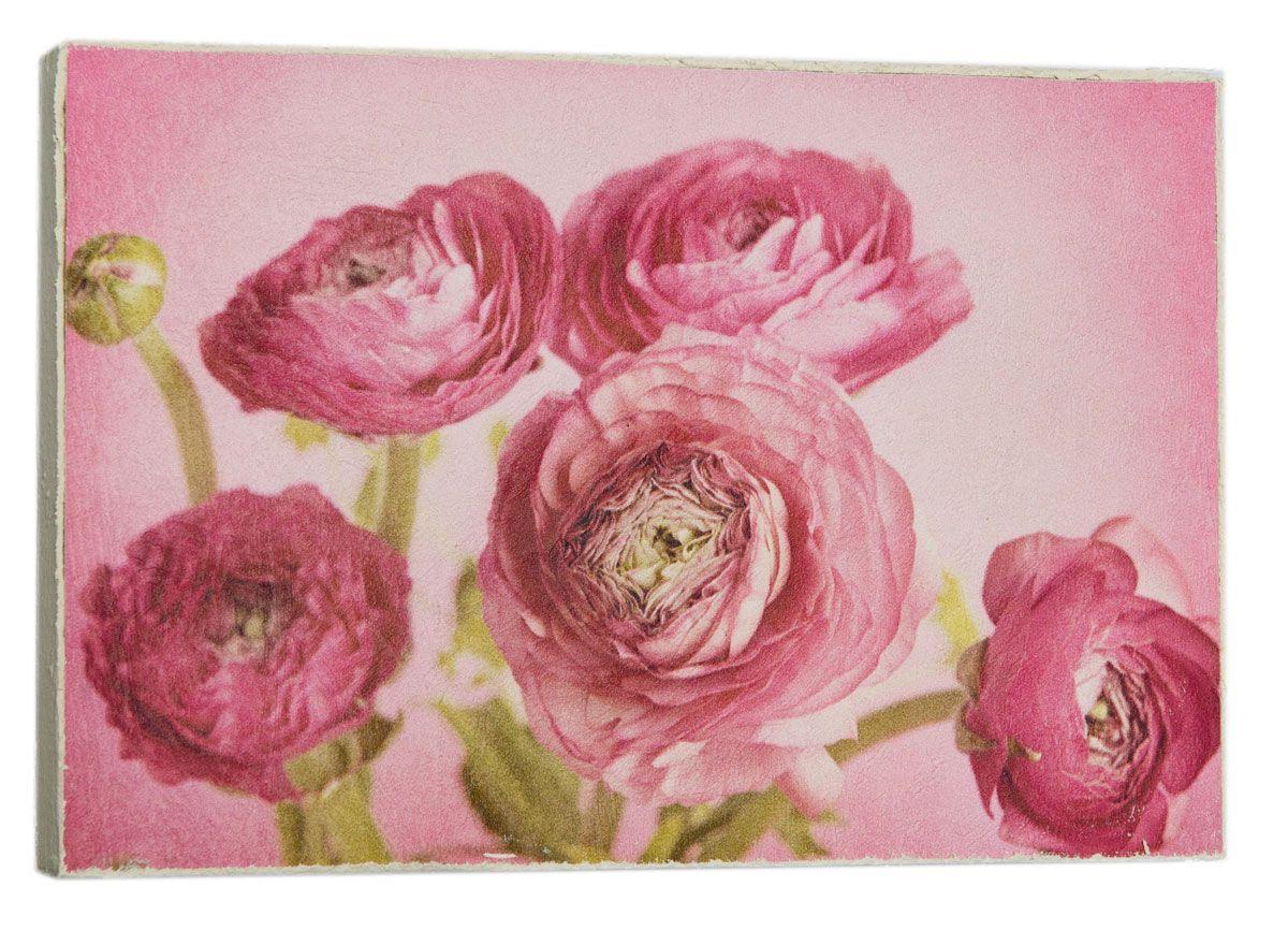 Картина Бардовые пионы, 14,5 х 22 см0512-15-22