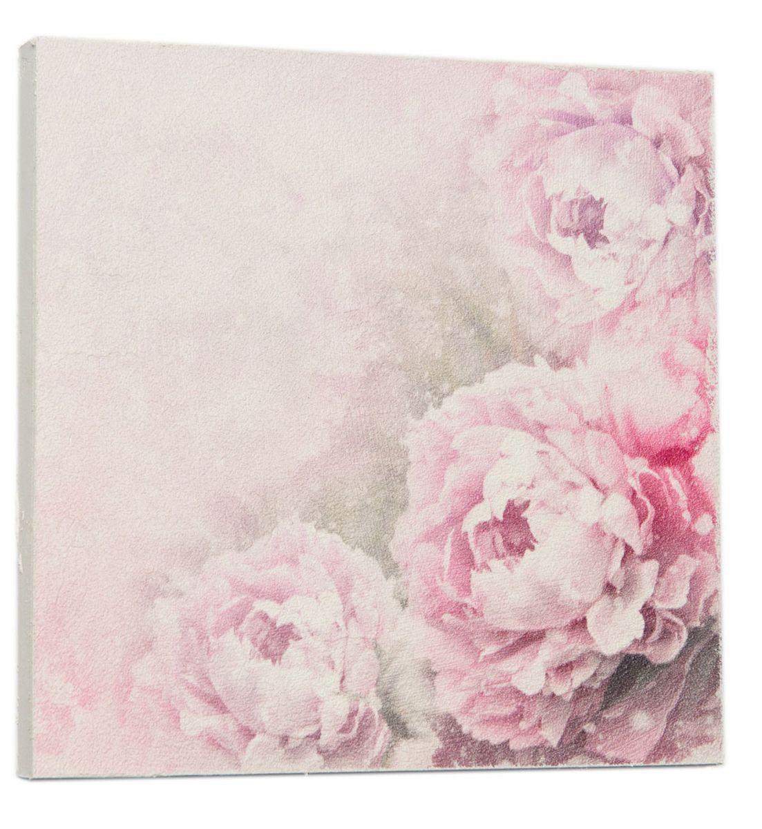 Картина Красивые цветы пиона, 22 х 22 см