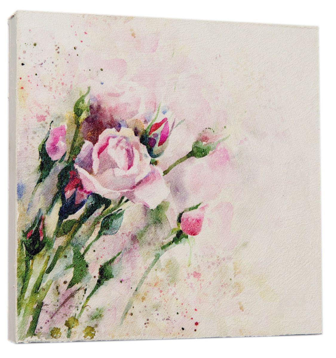 Картина Винтажные розовые розы, 22 х 22 см0569-22-22