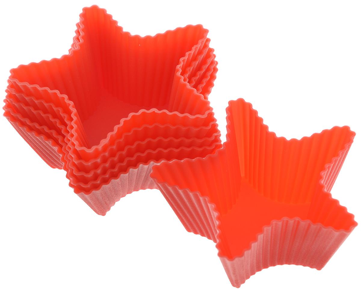 Набор форм для выпечки Mayer & Boch Звездочка, цвет: красный, 7,5 х 7,5 х 2,5 см, 6 штMB-20056_красныйНабор Mayer & Boch Звездочка состоит из шести форм для выпечки, изготовленных из высококачественного силикона, выдерживающего температуру от -40°C до +210°C. Формы выполнены в виде звезды. Если вы любите побаловать своих домашних вкусным и ароматным угощением по вашему оригинальному рецепту, то набор формочек Mayer & Boch Звездочка как раз то, что вам нужно! Объем формочек: 50 мл. Размер формочек: 7,5 см х 7,5 см х 2,5 см.