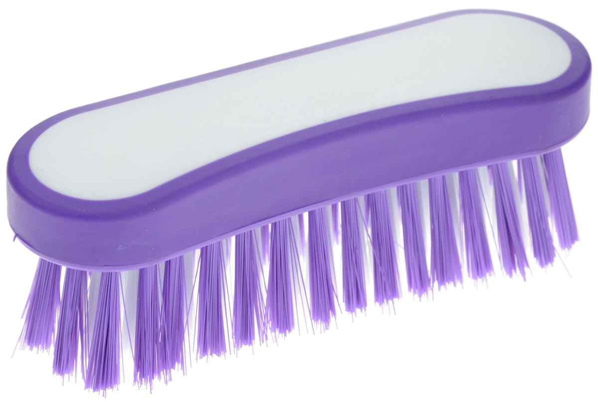 Еврощетка Home Queen Фигурная, универсальная, цвет: белый, фиолетовый52073Еврощетка Home Queen Фигурная, выполненная из полипропилена и нейлона, является универсальной щеткой для любых поверхностей, эффективно очищающей загрязнения. Изделие имеет эргономичную форму для большего удобства использования. Размер: 12,5 см х 4 см х 4,5 см. Длина ворсинок: 3 см.