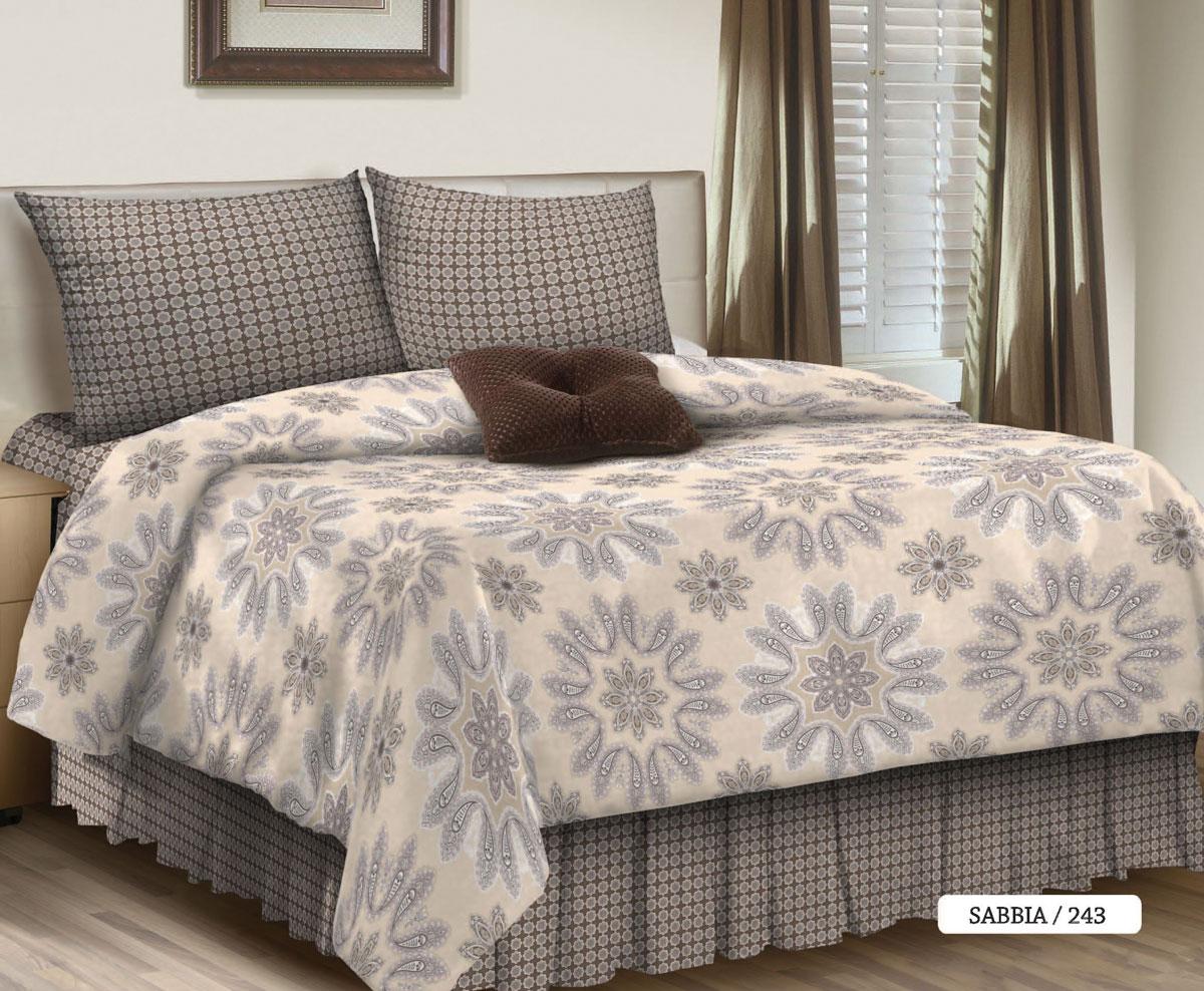 Комплект белья Seta Sabbia, 1,5-спальный, наволочки 50x70, цвет: серый016512243