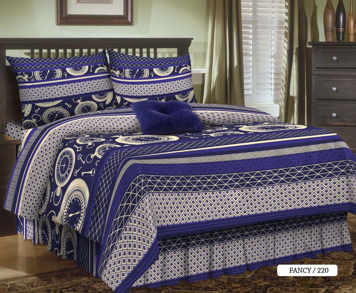 Комплект белья Seta Fancy, 2-спальный, наволочки 50x70, цвет: фиолетовый015835220