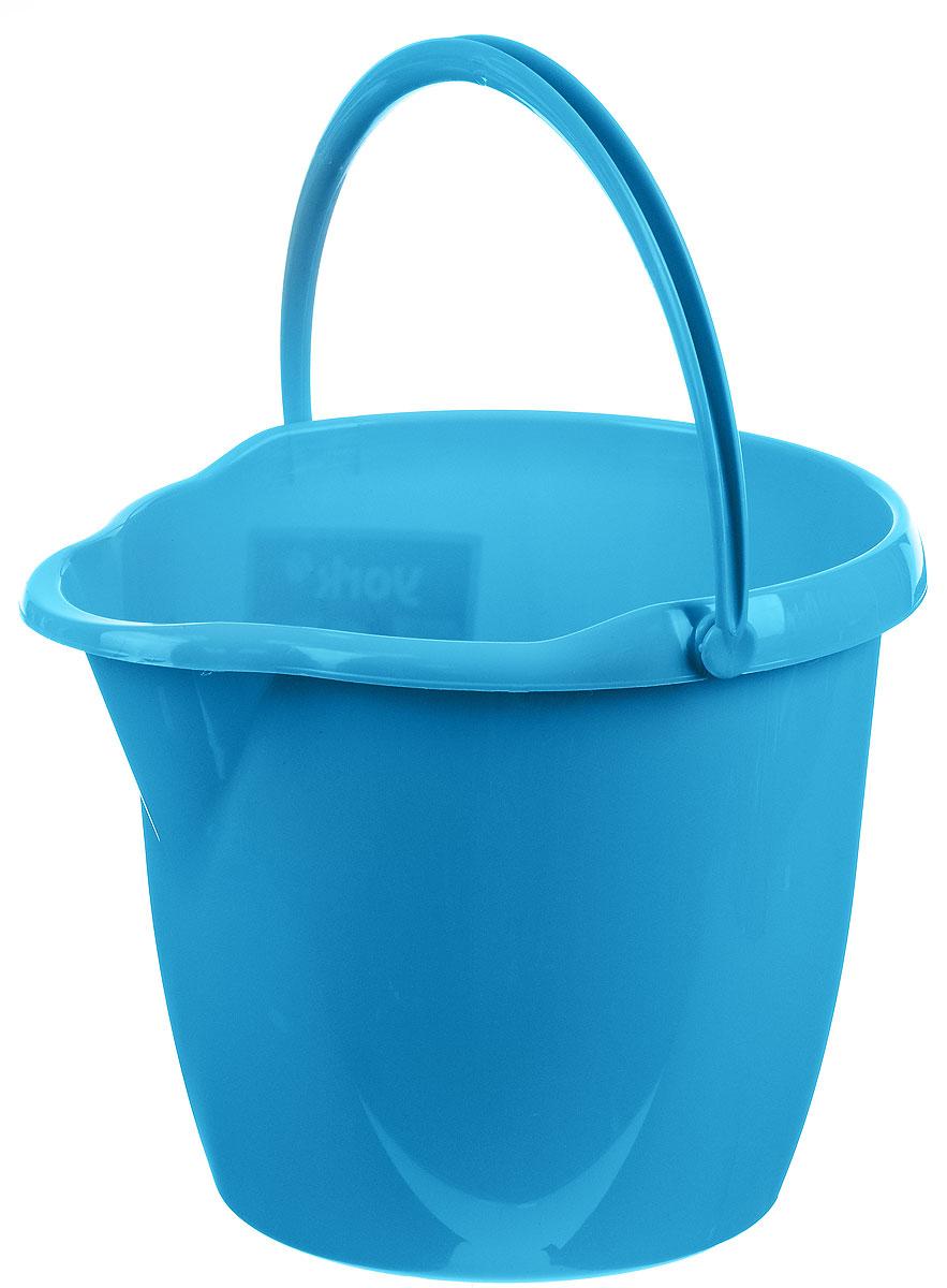 Ведро York, круглое, с носиком, цвет: голубой, 12 л7105_голубойКруглое ведро York изготовлено из высококачественного пластика. Оно легче железного и не подвергается коррозии. Изделие оснащено носиком для слива и удобной пластиковой ручкой. Такое ведро станет незаменимым помощником в хозяйстве. Размер ведра (по верхнему краю): 32,5 х 29,5 см. Высота стенок: 26,5 см.