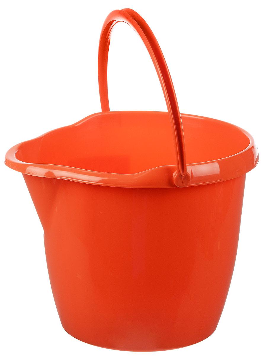 Ведро York, круглое, с носиком, цвет: оранжевый, 12 л7105_оранжевыйКруглое ведро York изготовлено из высококачественного пластика. Оно легче железного и не подвергается коррозии. Изделие оснащено носиком для слива и удобной пластиковой ручкой. Такое ведро станет незаменимым помощником в хозяйстве. Размер ведра (по верхнему краю): 32,5 х 29,5 см. Высота стенок: 26,5 см.