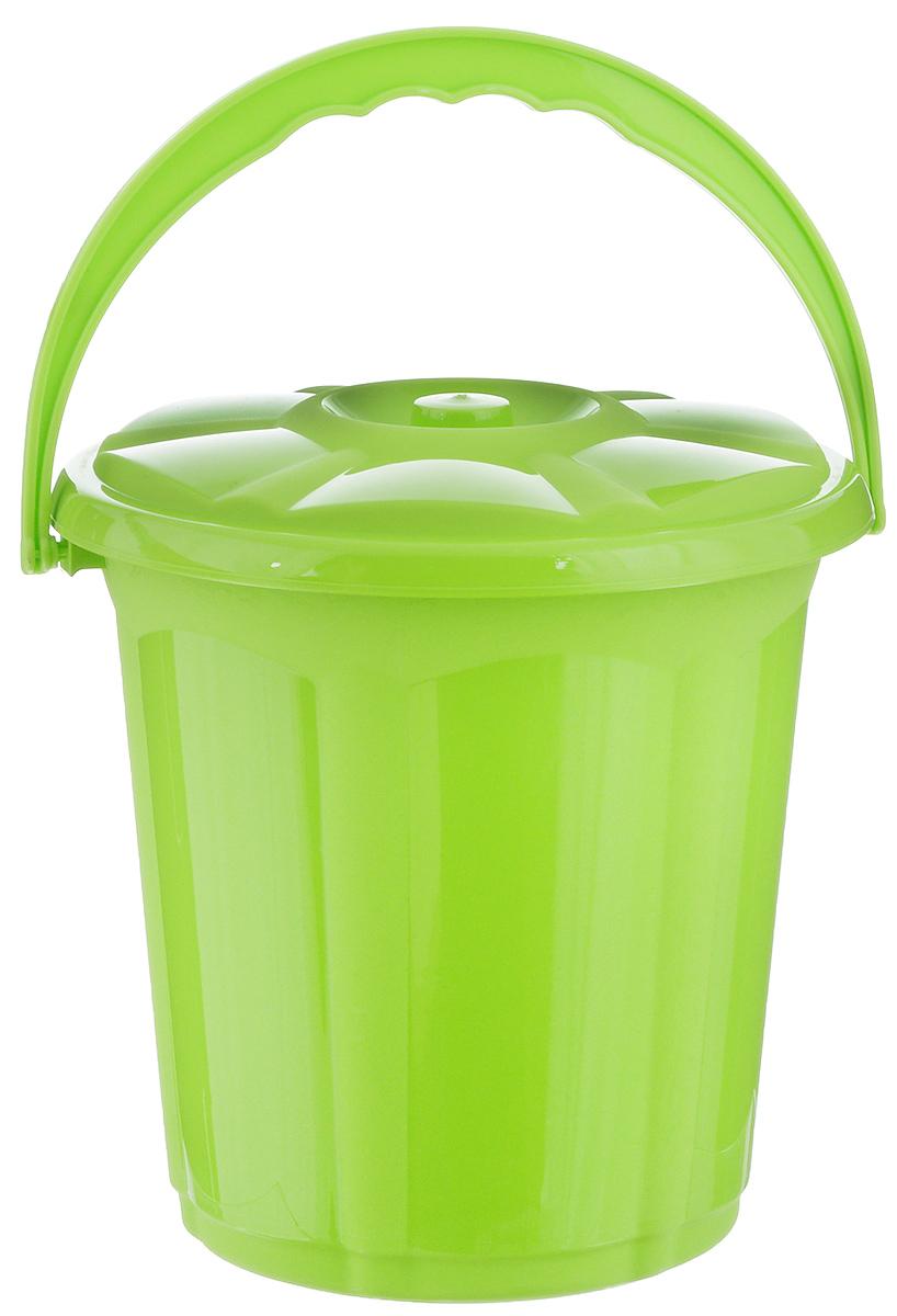 Ведро Dunya Plastik Стиль, с крышкой, цвет: салатовый, 5 л9101_салатовыйВедро Dunya Plastik Стиль изготовлено из прочного пластика. Изделие оснащено плотно закрывающейся крышкой и удобной ручкой. Такое ведро прекрасно подойдет для различных хозяйственных нужд: для уборки или хранения мусора. Диаметр ведра (по верхнему краю): 20,5 см. Высота (без учета крышки): 20 см.