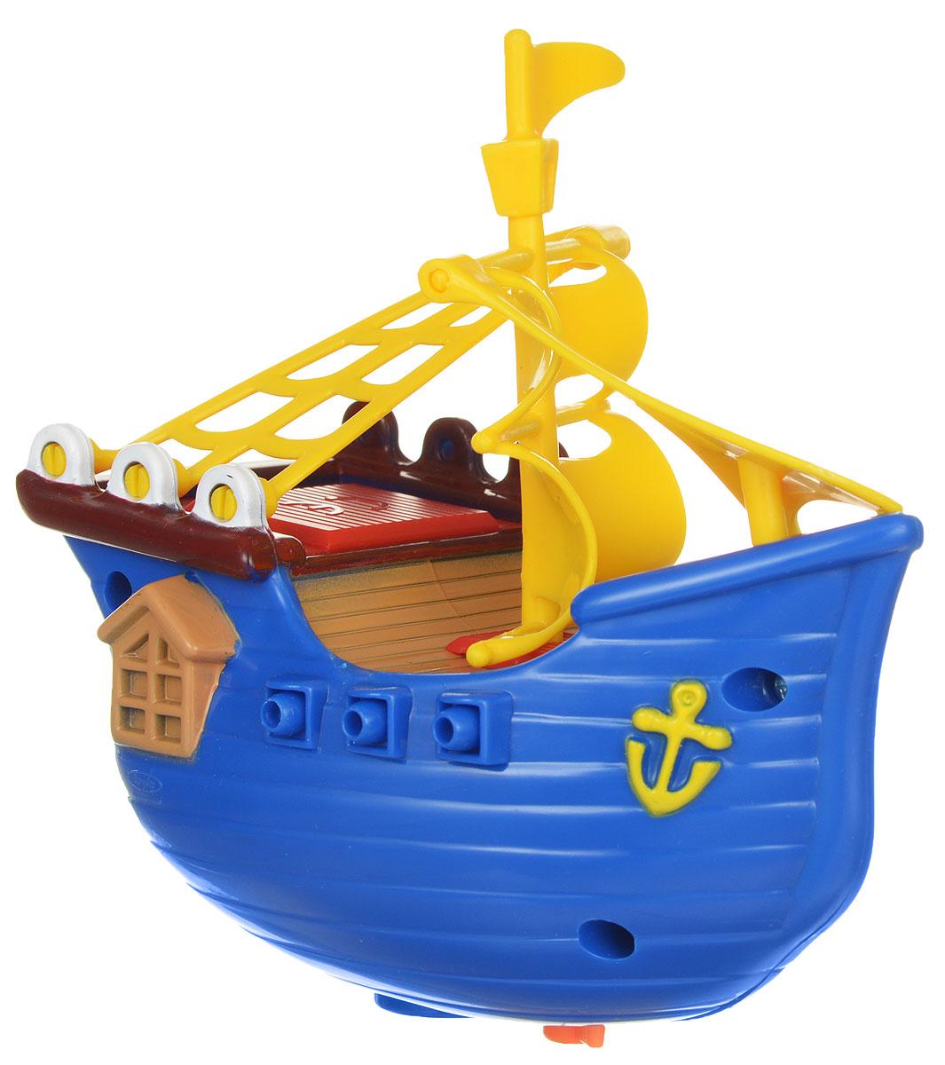 Navystar Игрушка для ванной Фрегат цвет синий63985-1-B_голубойЗаводная игрушка Фрегат порадует вашего малыша во время купания и сделает этот порой нелегкий процесс приятным и веселым. Фрегат синего цвета с яркими пластиковыми парусами. Механическая игрушка быстро плавает по поверхности воды. Даже ребенку легко завести кораблик с помощью специального ключика, расположенного на дне игрушки. Данная игрушка не только развеселит вашего малыша, но и поможет развить мелкую моторику.