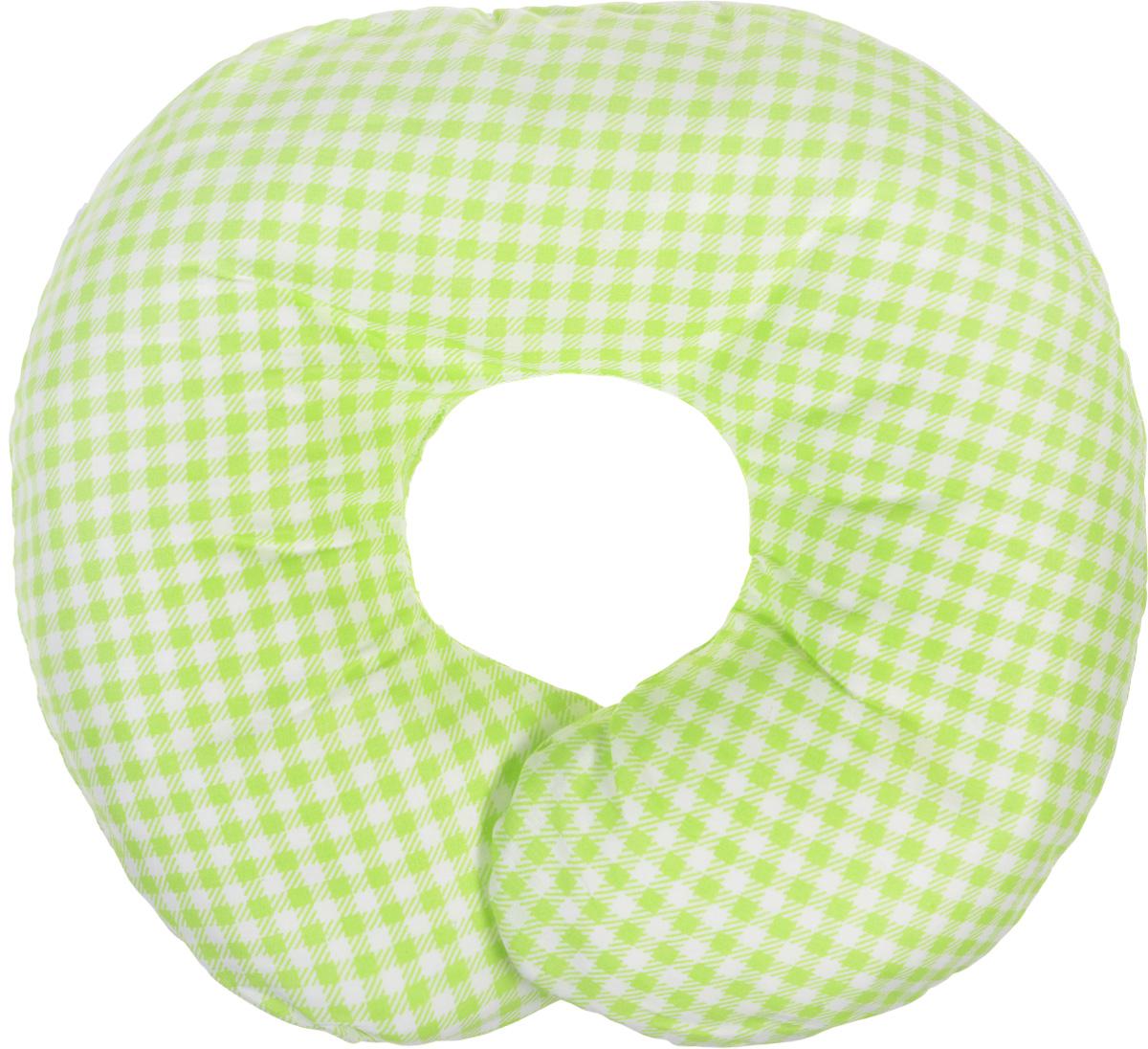 Selby Подушка-воротник для младенца цвет салатовый белый 30 см х 25 см