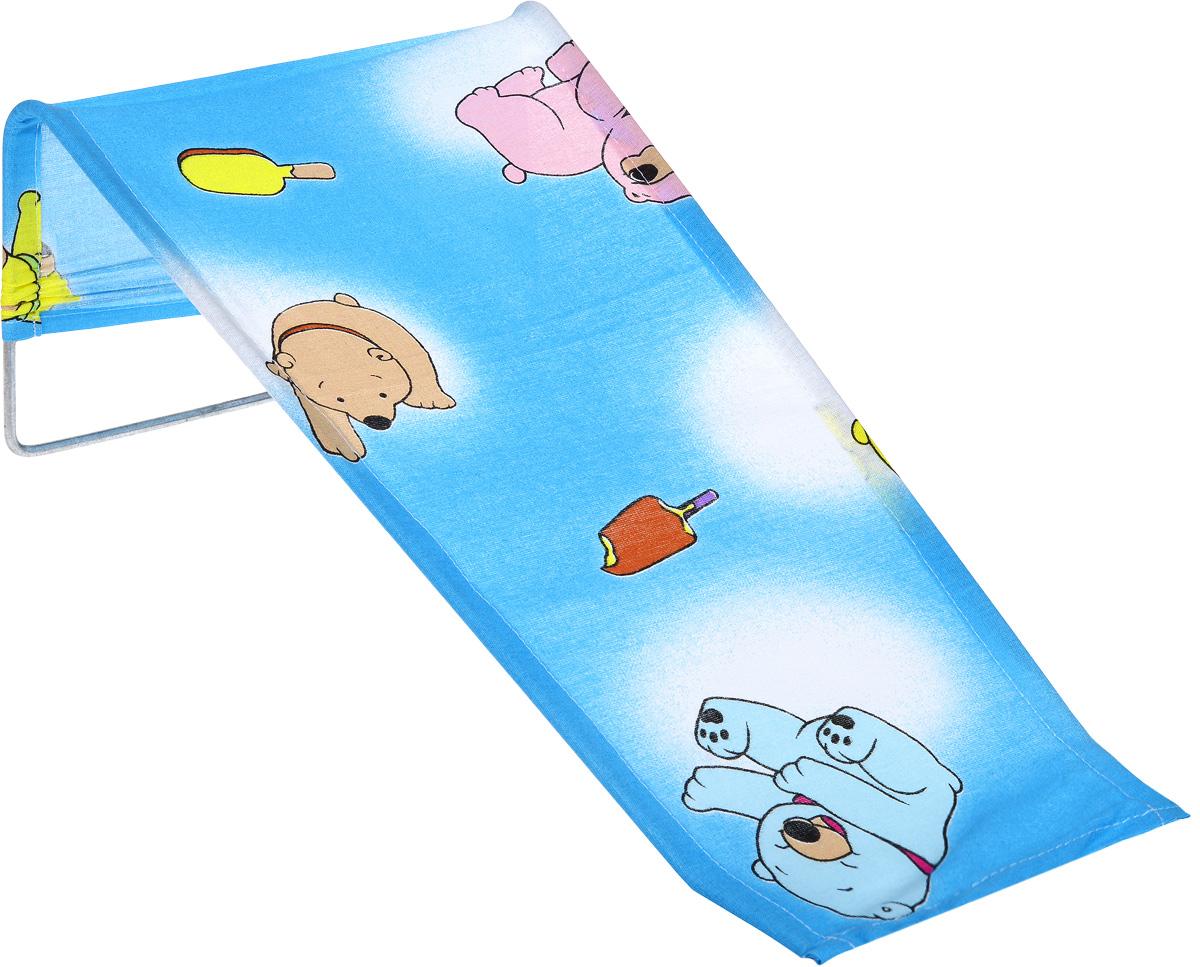 Фея Подставка для купания Мишки и мороженое цвет голубой1332-01_мишки, мороженоеПодставка для купания Фея - это удобный способ мытья и прекрасная возможность побаловать вашего малыша. Эргономичный дизайн подставки разработан специально для комфорта и безопасности вашего ребенка. Основу подставки составляет металлический каркас, обтянутый тканью. Подарите своему малышу радость и комфорт во время купания! Подставка предназначена для купания детей в возрасте до 1 года. Фея - это качественные и надежные товары для малышей, которые может позволить себе каждая семья! Правила ухода за чехлом: после использования хорошо просушить. Запрещается использование моющих средств, содержащих щелочь.
