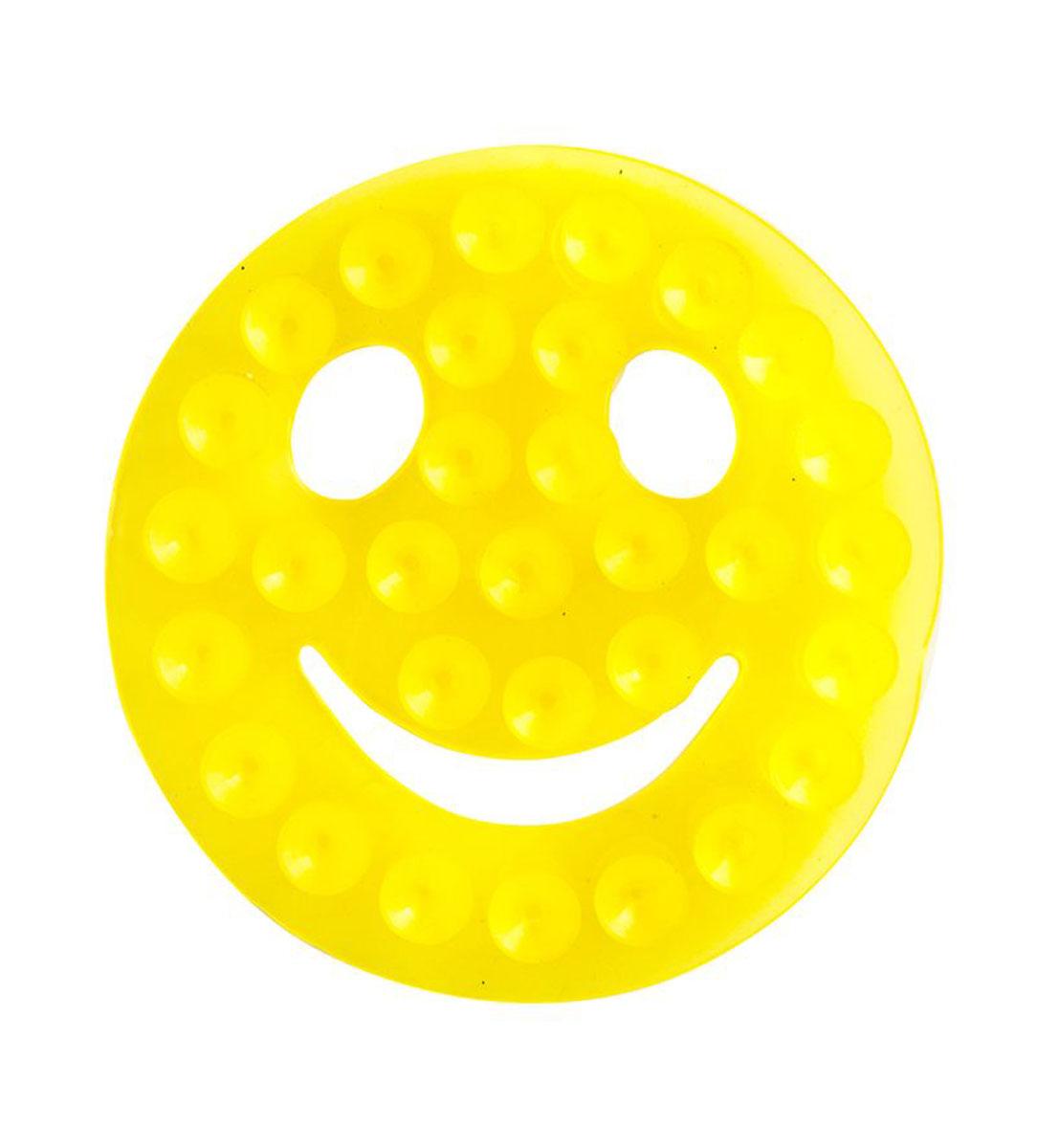 Valiant Полка-липучка для ванной Смайлик на присосках цвет желтый
