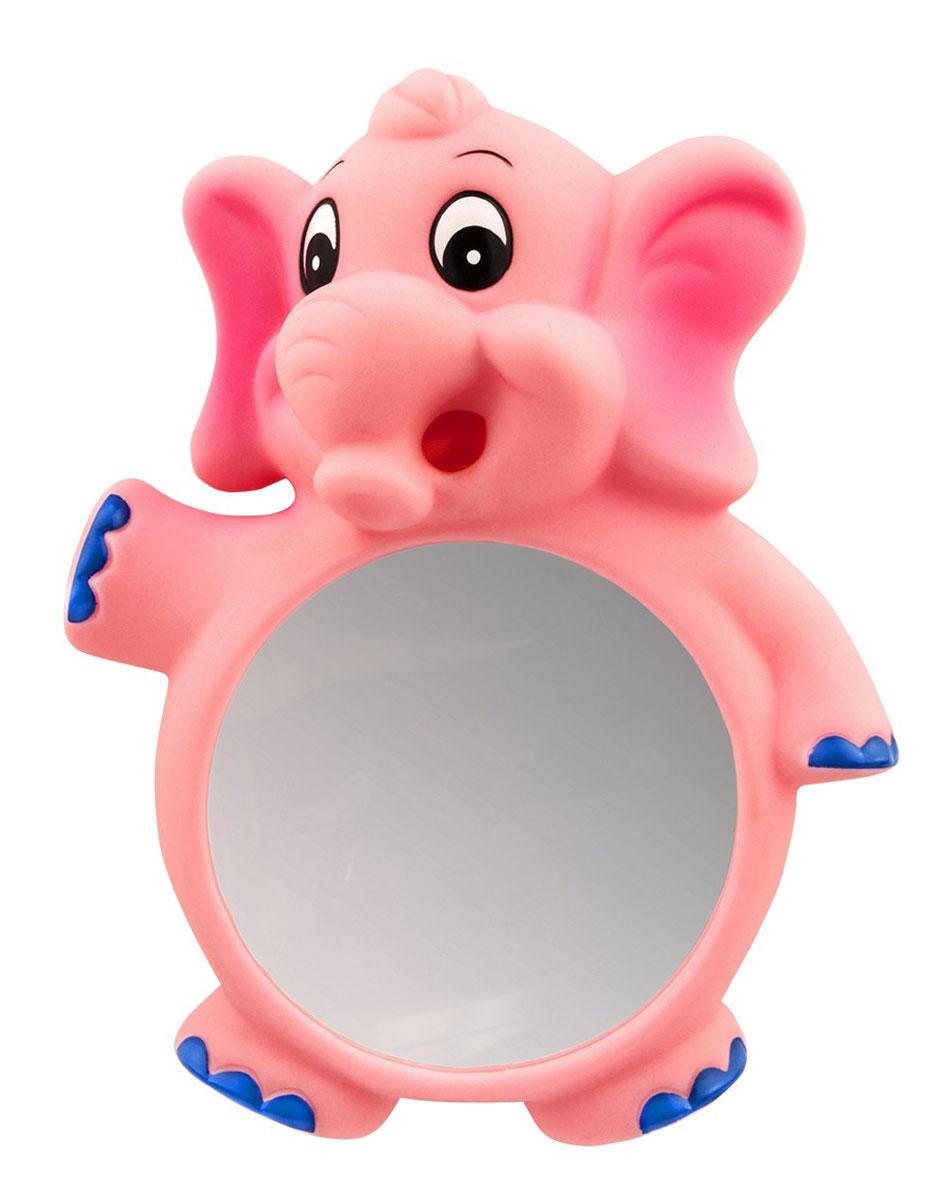 Valiant Зеркало детское для ванной комнаты Слоник на присоскахKC-E-MЗеркало детское для ванной комнаты Valiant Слоник на присосках сделает интерьер ванной комнаты более интересным для малыша и будет поднимать ему настроение во время принятия водных процедур. Изделие надежно крепится к любой гладкой поверхности с помощью двух прочных присосок. Малышу понравится разглядывать себя в зеркало, он с удовольствием будет трогать слона за хобот и ушки. Безопасное зеркало для ванной комнаты на присосках от Valiant - это веселый и безопасный декор, который позволит разнообразить атмосферу в ванной, а родители смогут не опасаться, что малыш может разбить зеркало.