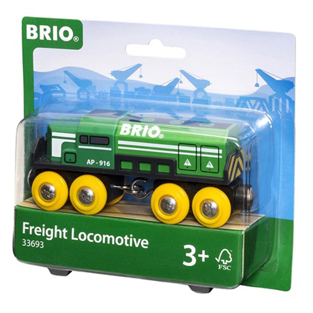 Brio Паровоз-локомотив грузовой33693Вашему ребенку обязательно пригодится в игре с железной дорогой игрушка Brio Паровоз-локомотив грузовой. Этот маленький паровоз выполнен из дерева, пластика и металла, окрашен нетоксичной краской. Имеет металлические втулки колес и магнитное соединение для вагонов с двух сторон. Колесные основания могут поворачиваться относительно корпуса локомотива, обеспечивая плавность прохождения поворотов. Железные дороги позволяют ребенку не только получать удовольствие от игры, но и развивать пространственное воображение, мелкую моторику и координацию движений.