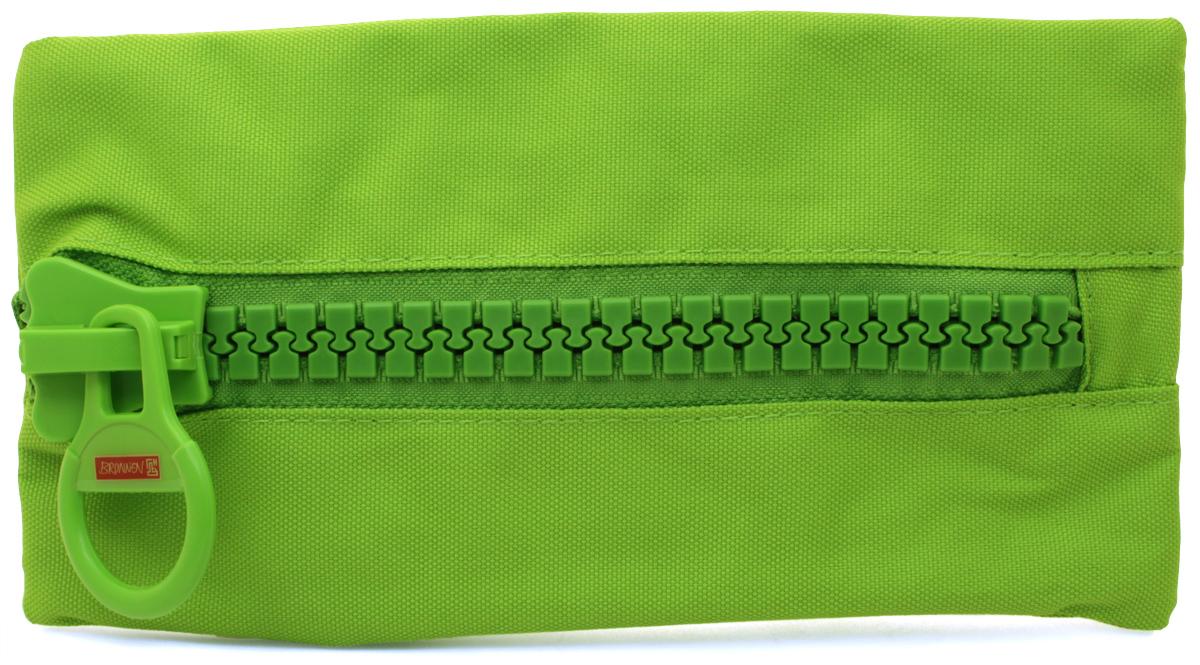 Brunnen Пенал BigZip цвет зеленый49031-52\319735Пенал на молнии BigZip, 23х12см, зеленый, без наполнения.