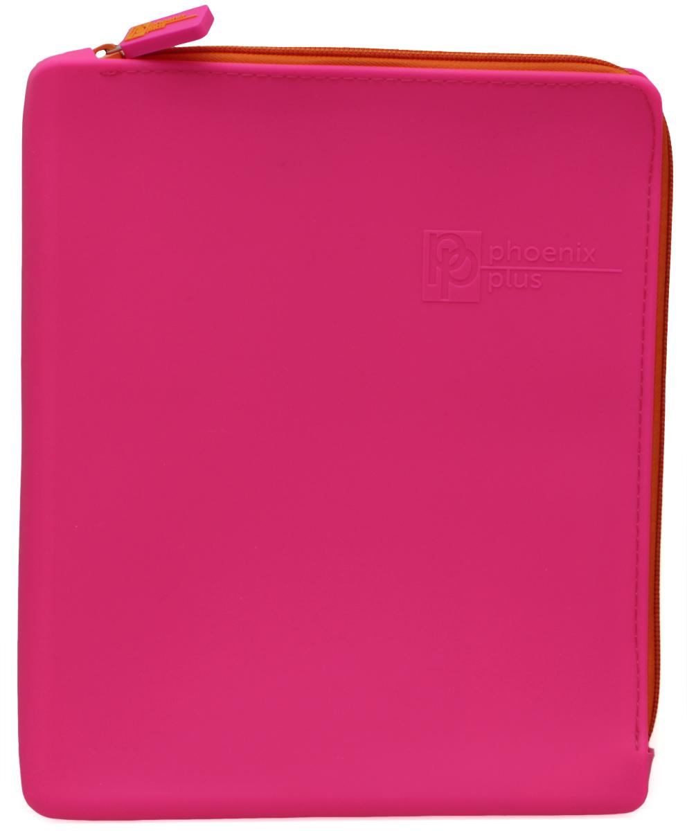 Феникс+ Папка для тетрадей формат А5+ цвет розовый на молнии40261Папка для тетрадей. На молнии. Формат: А5+ Размер: 20х24см Материал: силикон.
