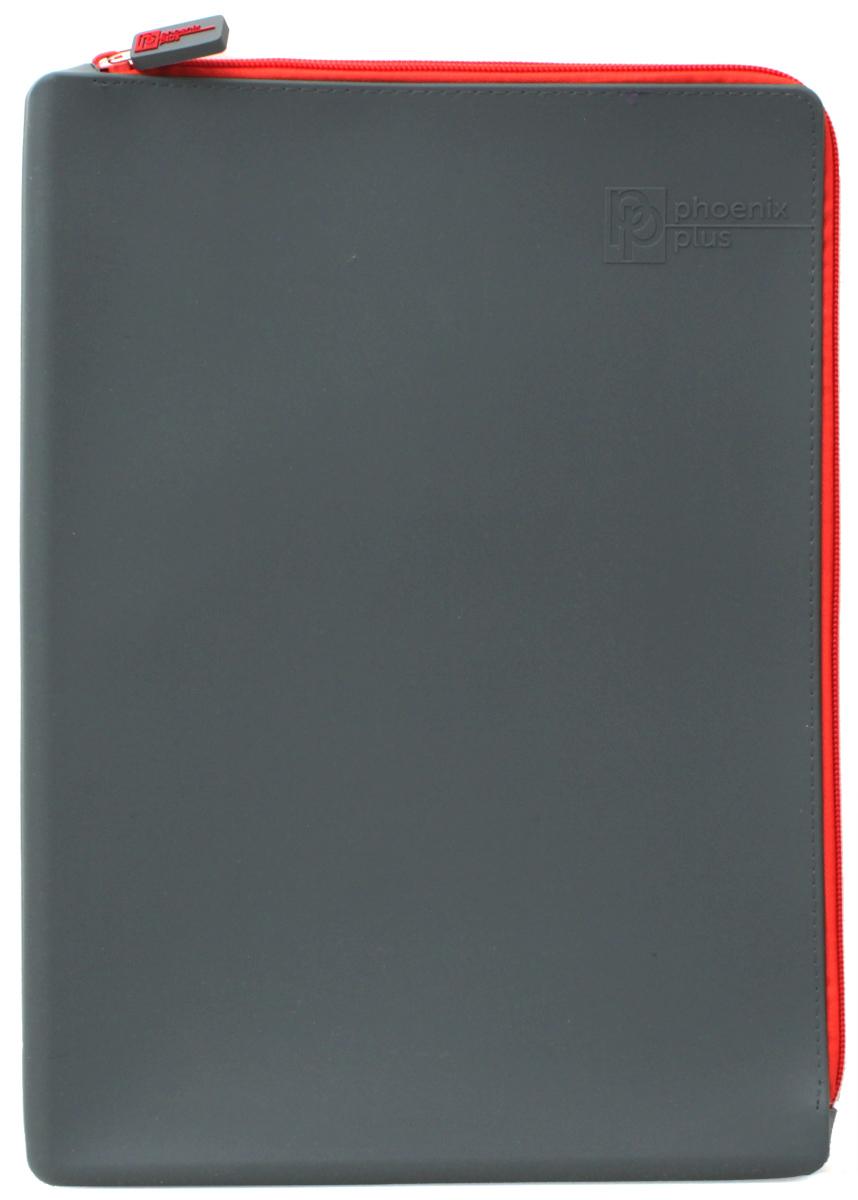 Феникс+ Папка для тетрадей формат А4+ цвет серый на молнии40265Папка для тетрадей. На молнии. Формат: А4+ Размер: 24х33см Материал: силикон.