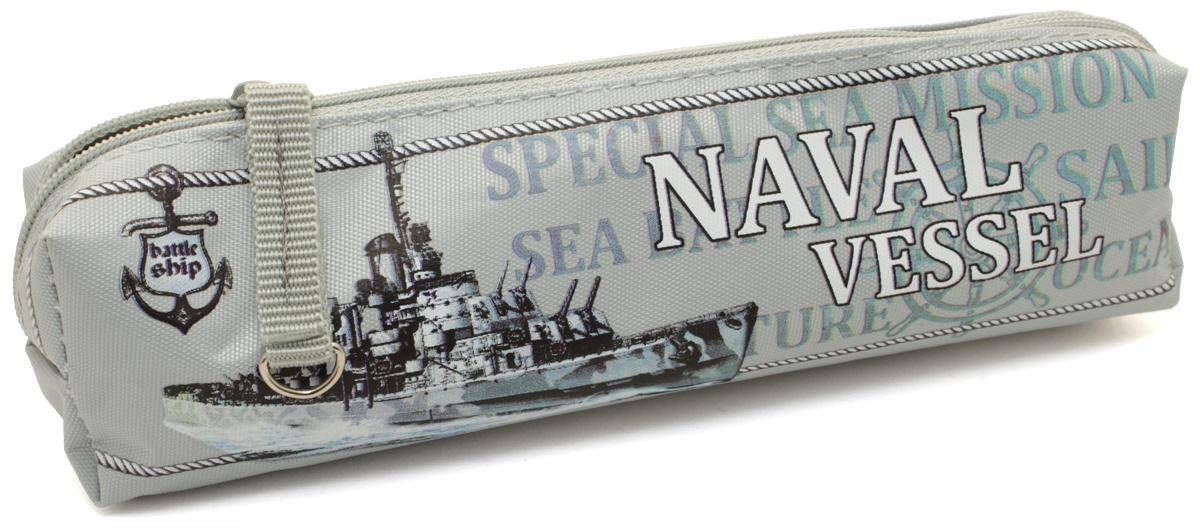 Феникс+ Пенал Военный корабль цвет голубой34730Пенал школьный. Без наполнения. Размер: 20х4х4,5 см. Материал: нейлон Предназначен для школьников 6-16 лет. Застежка-молния, фигурная собачка.