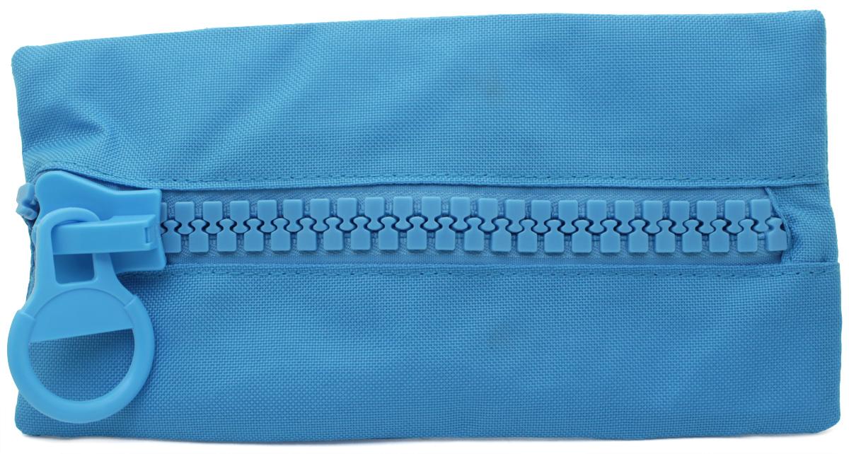 Brunnen Пенал BigZip цвет голубой49031-32\319733Пенал на молнии BigZip, 23х12см, голубой, без наполнения.
