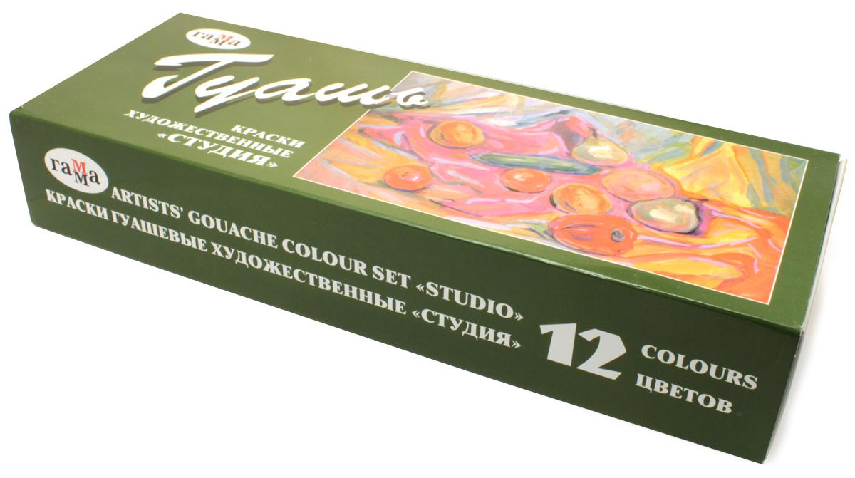 Гамма Гуашь Художественная 12 цветов х 40 мл221029Гуашь художественная. В наборе 12 цветов. Предназначена для живописи. Объем краски одного цвета 40 см3. При необходимости краски развести водой. Состав: вода, природные смолы, глицерин, пигменты, наполнители.