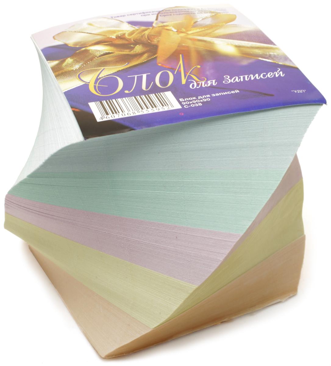 Ульяновский Дом печати Блок бумаги для записей цветной С-038С-038Размеры: 90*90*90, 5 цветов, на склейке, винтовой офсет, в термоупаковке.