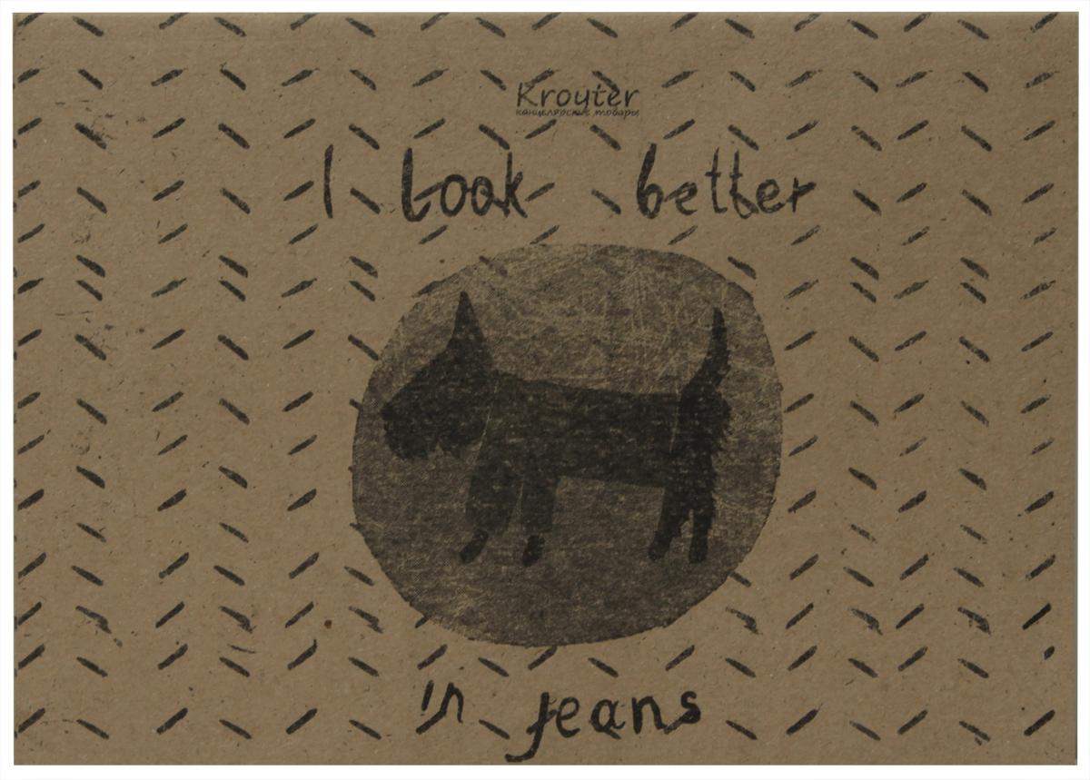 Kroyter Тетрадь I Look Better in Jeans 40 листов в линейку06371Тетрадь Kroyter I Look Better in Jeans отлично подойдет для различных записей. Обложка, выполненная из крафт-картона, позволит сохранить тетрадь в аккуратном состоянии на протяжении всего времени использования. Внутренний блок тетради, соединенный посредством спирали, состоит из 40 листов белой бумаги. Стандартная линовка в линейку.