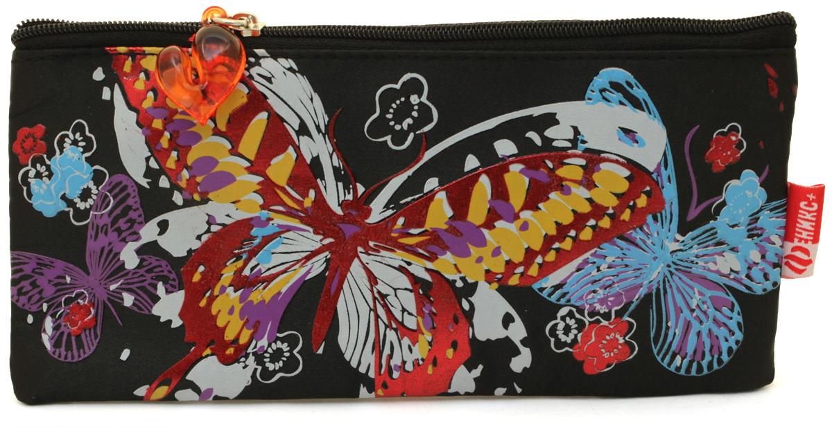 Феникс+ Пенал Красивая бабочка цвет синий30308Без наполнения, размер: 19.5x9 см, атлас с запечаткой красной металлической краской, фигурная собачка. Предназначен для хранения письменных принадлежностей.
