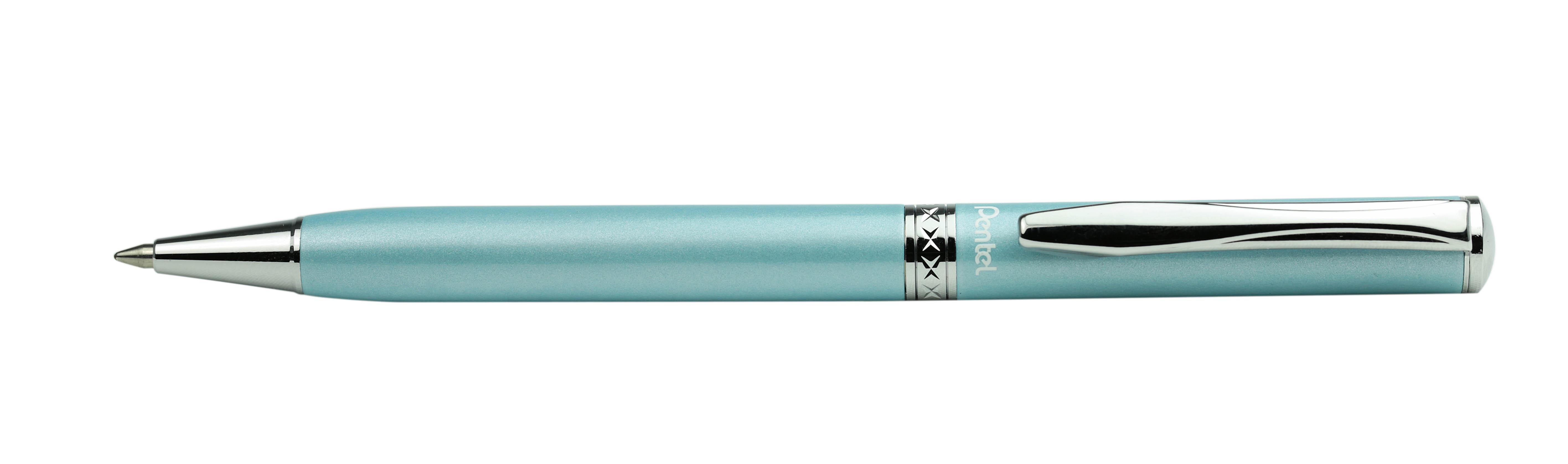 Pentel Ручка шариковая Sterling чернаяB811S-AПодарочная шариковая ручка Pentel Sterling имеет поворотный механизм. Корпус ручки изготовлен из металла с хромированным покрытием. Стержень - черный, толщина пишущего узла - 0,8 мм. Чернила обеспечивают ровное и комфортное письмо. Упаковка - подарочный футляр.