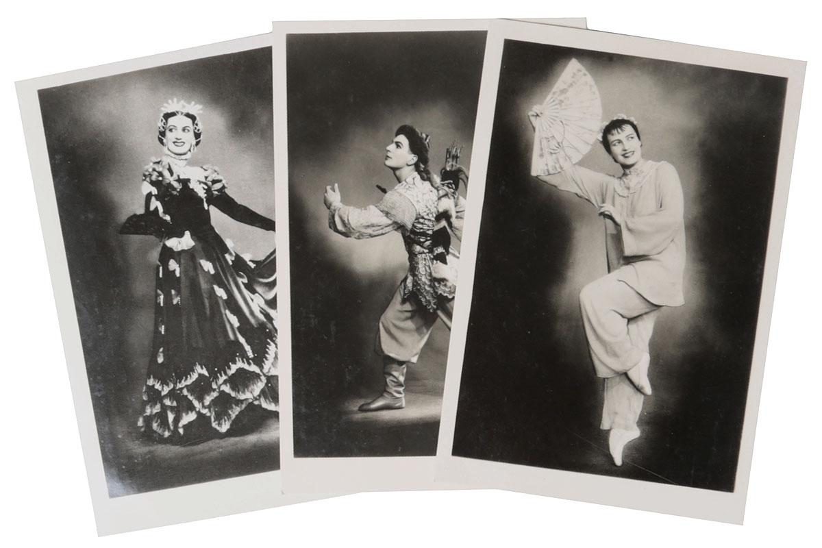 Балет. Комплект из 3 открытокНВА 1708-16-08Балет. Комплект из 3 открыток