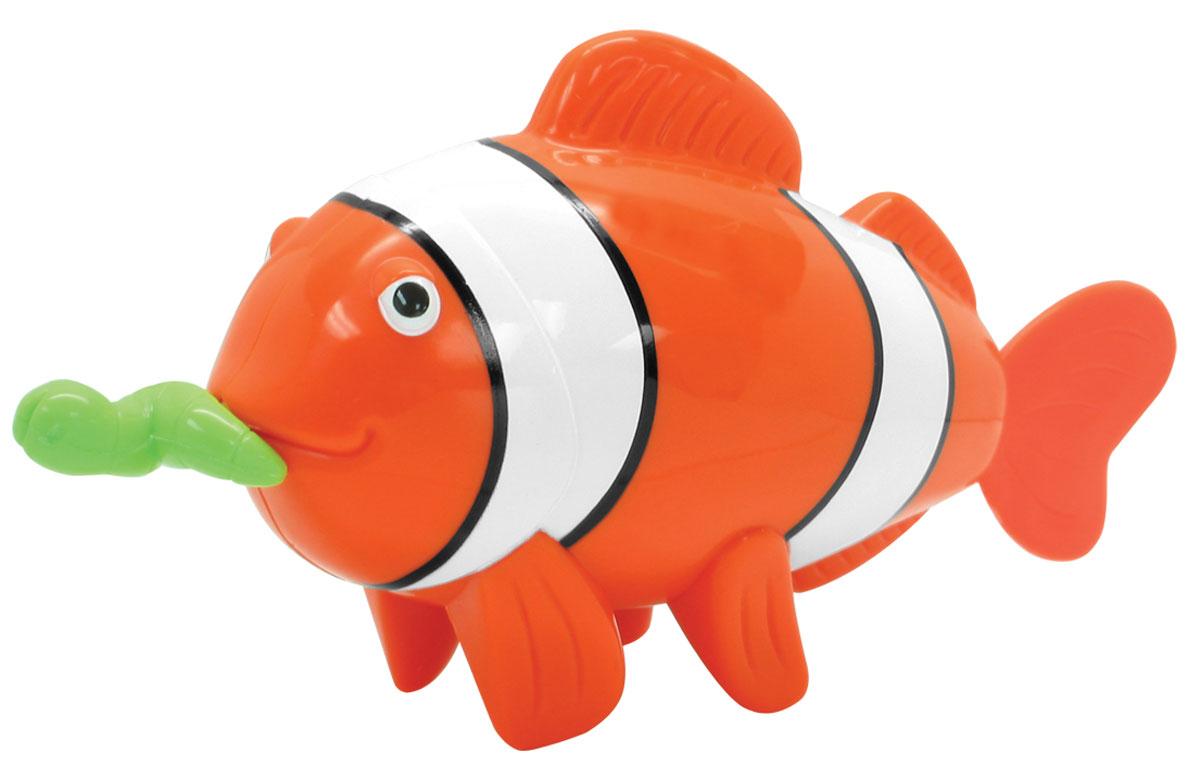 Navystar Игрушка для ванной Рыба-клоун65022-1Игрушка для ванной Navystar Рыба-клоун обрадует вашего малыша во время купания и сделает этот порой нелегкий процесс приятным и веселым. Игрушка выполнена в виде яркой рыбки с червячком во рту. Если потянуть за червячка, а затем отпустить, рыбка начнет двигать хвостовым плавником. Игрушка для ванной Navystar Рыба-клоун не только развеселит вашего малыша, но и поможет развить мелкую моторику.