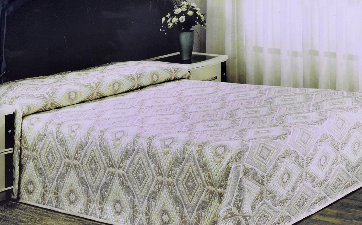 Покрывало Arya Tay-Pen, цвет: желтый, серый, 200 х 240 см1350_желтый-серыйПокрывало Arya Tay-Pen прекрасно оформит интерьер спальни или гостиной. Изделие изготовлено из 100% полиэстера. Жаккардовые покрывала уникальны, так как они практичны и универсальны в использовании. Жаккардовые ткани хорошо сохраняют окраску, слабо подвержены влиянию перепадов температур. Своеобразный рельефный рисунок, который получается в результате сложного переплетения на плотной ткани, напоминает гобелен. Изделие долговечно, надежно и легко стирается. Покрывало Arya Tay-Pen не только подарит тепло, но и гармонично впишется в интерьер вашего дома.