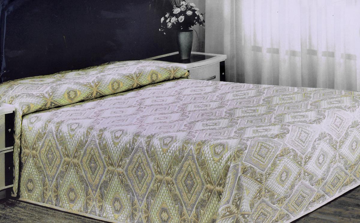 Покрывало Arya Tay-Pen, цвет: желтый, серый, 240 х 240 см1090_желтый-серыйПокрывало Arya Tay-Pen прекрасно оформит интерьер спальни или гостиной. Изделие изготовлено из 100% полиэстера. Жаккардовые покрывала уникальны, так как они практичны и универсальны в использовании. Жаккардовые ткани хорошо сохраняют окраску, слабо подвержены влиянию перепадов температур. Своеобразный рельефный рисунок, который получается в результате сложного переплетения на плотной ткани, напоминает гобелен. Изделие долговечно, надежно и легко стирается. Покрывало Arya Tay-Pen не только подарит тепло, но и гармонично впишется в интерьер вашего дома.