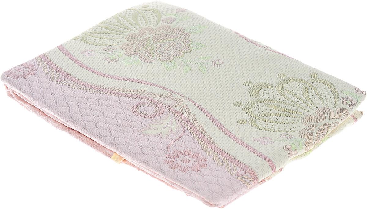 Покрывало Arya Tay-Pen. Орнамент, цвет розовый серый 240 х 240 см1090_розовый-серый