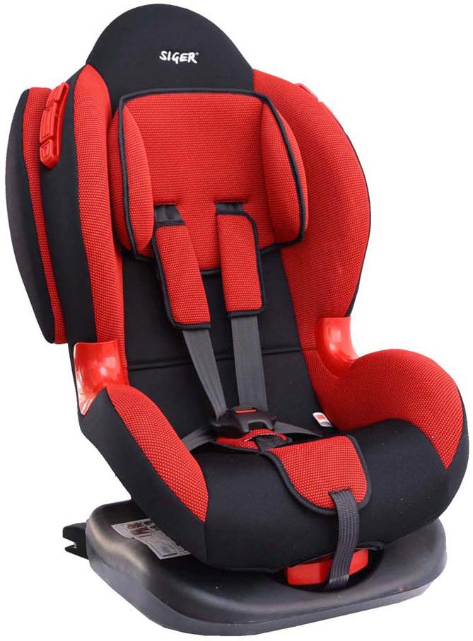 Siger Автокресло Кокон IsoFix цвет красный от 9 до 25 кг