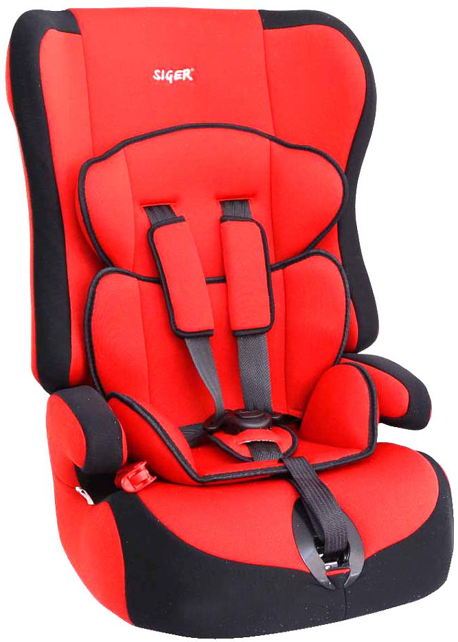 Siger Автокресло Прайм цвет красный от 9 до 36 кгKRES0002Детское автокресло Siger Прайм разработано для детей от 1 года до 12 лет, весом от 9 до 36 кг. Относится к возрастной группе 1/2/3. Отличительным свойством автокресла является его универсальность. При соответственном весе ребенка кресло может использоваться в течение 12 лет. Для удобства малышей от 1 до 4 лет автокресло оборудовано пятиточечным ремнем безопасности с регулировкой по глубине и высоте, мягким съемным вкладышем и мягкими накладками на ремни. Съемный чехол изготовлен из нетоксичного гипоаллергенного материала, который безопасен для малыша. Округлая форма сиденья не режет ножки ребенка и предохраняет их от затекания. Детские удерживающие устройства Siger разработаны и выполнены в России с учетом анатомии российских детей. Двухпозиционная регулировка центральной лямки позволяет адаптировать внутренние ремни под зимнюю и летнюю одежду ребенка. Автокресло успешно прошло все необходимые краш-тесты и имеет сертификат соответствия техническому регламенту РФ и...