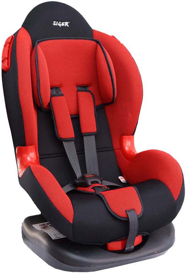 Siger Автокресло Кокон цвет красный от 9 до 25 кгKRES0111Детское автокресло Siger Кокон разработано для детей от 1 года до 7 лет, весом от 9 до 25 кг. Относится к возрастной группе 1/2. Автокресло имеет выраженную тыльную и боковую защиты, что обеспечивает безопасность при резких поворотах и боковых ударах. Замок внутренних ремней безопасности обладает повышенной надежностью, внутренние ремни регулируются по высоте в зависимости от роста ребенка. Для детишек в возрасте от 1 до 4 лет можно регулировать наклон кресла в шести положениях. Мягкий подголовник, специальная ортопедическая спинка и накладки внутренних ремней повышают уровень комфорта во время поездки. Специальные пластиковые накладки и направляющие штатного ремня гарантируют правильное прохождение ремня безопасности. Износостойкий съемный чехол выполнен из нетоксичного гипоаллергенного материала. Детские удерживающие устройства Siger разработаны и выполнены в России с учетом анатомии российских детей. Двухпозиционная регулировка центральной лямки позволяет адаптировать...