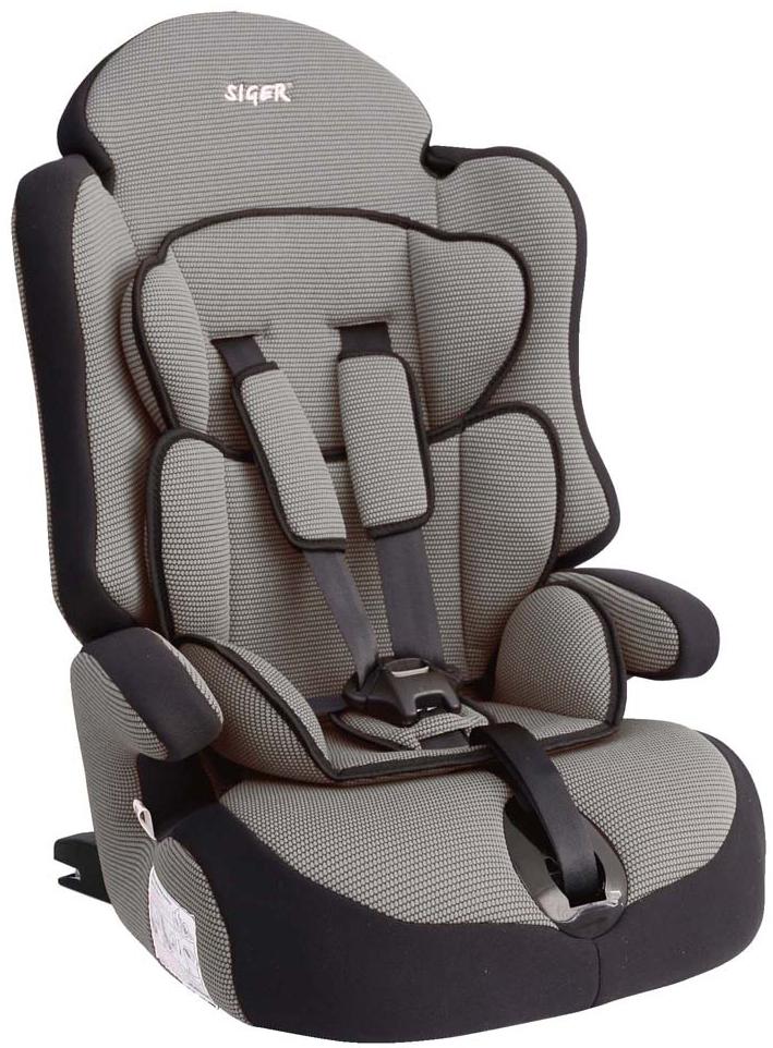 Siger Автокресло Прайм IsoFix цвет серый от 9 до 36 кг