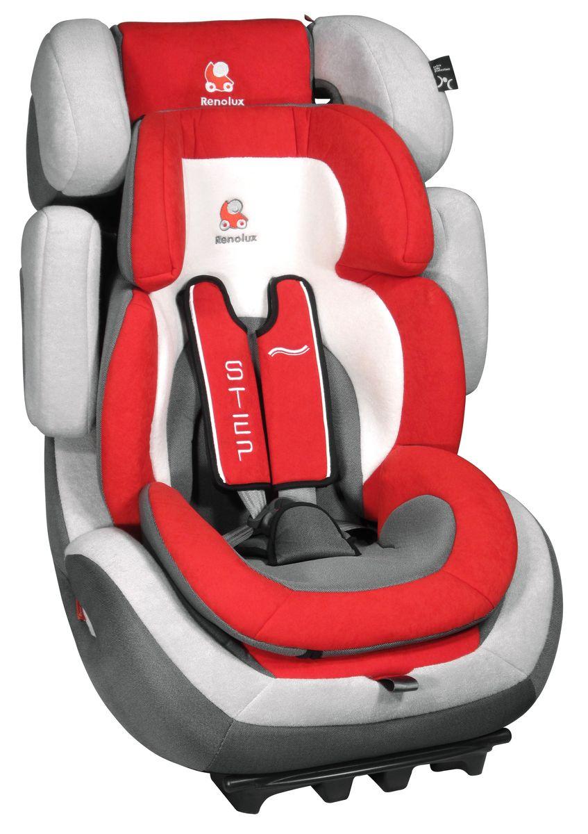Renolux Автокресло Step 123 Red295073Группа 1/2/3 (от 9 до 36 кг) Супер-адаптируемое кресло-бустер которое растёт вместе с вашим ребёнком регулируемый по высоте и ширине подголовник и боковая защита регулировка наклона спинки усиленная боковая защита съёмные привязные ремни. Регулируются автоматически, вместе с регулировкой высоты спинки автокресла адаптер (группа 1) из двух съёмных частей из пенополиуретана высокой плотности сделано во Франции