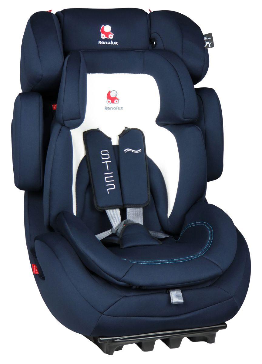 Renolux Автокресло Step 123 Midnight295662Группа 1/2/3 (от 9 до 36 кг) Супер-адаптируемое кресло-бустер которое растёт вместе с вашим ребёнком регулируемый по высоте и ширине подголовник и боковая защита регулировка наклона спинки усиленная боковая защита съёмные привязные ремни. Регулируются автоматически, вместе с регулировкой высоты спинки автокресла адаптер (группа 1) из двух съёмных частей из пенополиуретана высокой плотности сделано во Франции