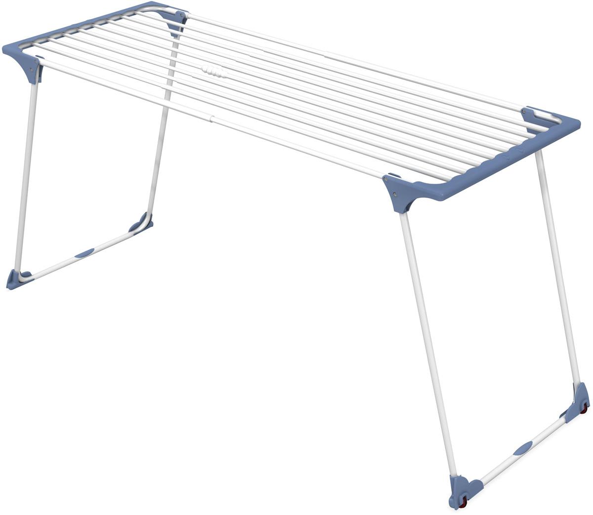 Сушилка напольная Gimi Dinamik 20, 190 см х 57 см х 100 см10140002Сушилка напольная Gimi Dinamik 20 проста и удобна в использовании, компактно складывается, экономя место в Вашей квартире. Сушилку можно использовать на балконе или дома. Сушилка оснащена выдвижными створками для сушки одежды во всю длину, а также имеет специальные пластиковые крепления в основе стоек, которые не царапают пол. Рабочая поверхность от 20 до 28 м. Раздвигается (от 110 до 190 см) с помощью телескопических направляющих. Позволяет свободно развесить как большие простыни, так и белье небольшого размера.