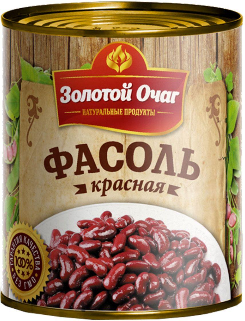 Золотой Очаг фасоль красная консервированная, 360 г4607816070058Красная фасоль содержит множество витаминов, микро- и макроэлементов. Одна четверть всех веществ, входящих в состав фасоли - это белок. По содержанию белка она уступает только мясу.