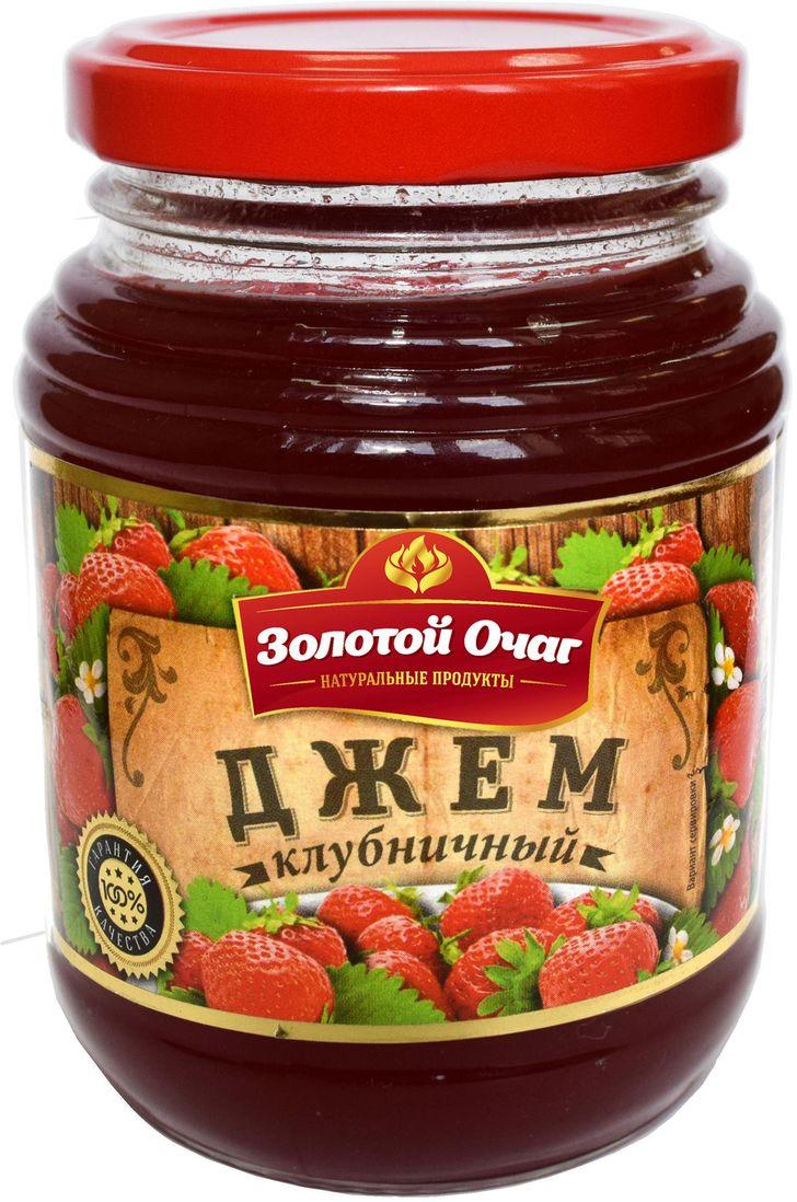 Золотой Очаг джем клубничный, 320 г4607816070737100% натуральный продукт. В составе отсутствуют усилители вкуса, ароматизаторы.
