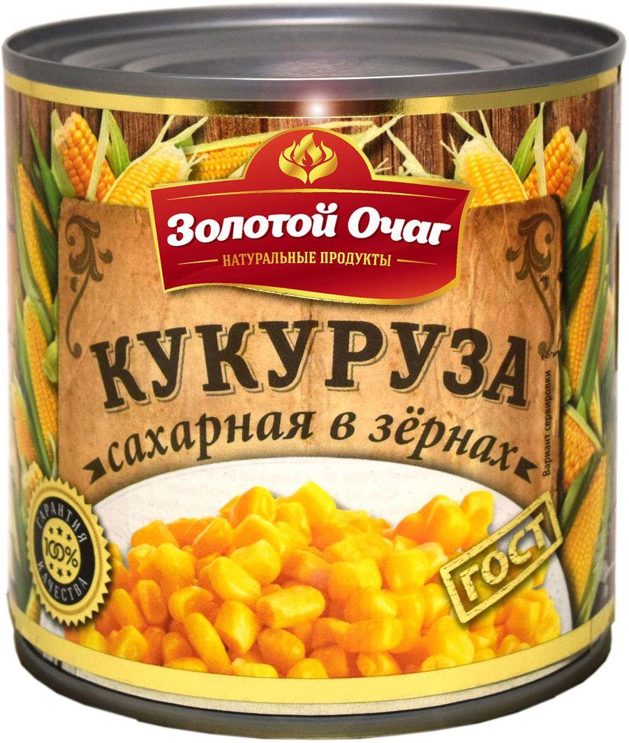Золотой Очаг кукуруза сахарная, 400 г 4607816070812