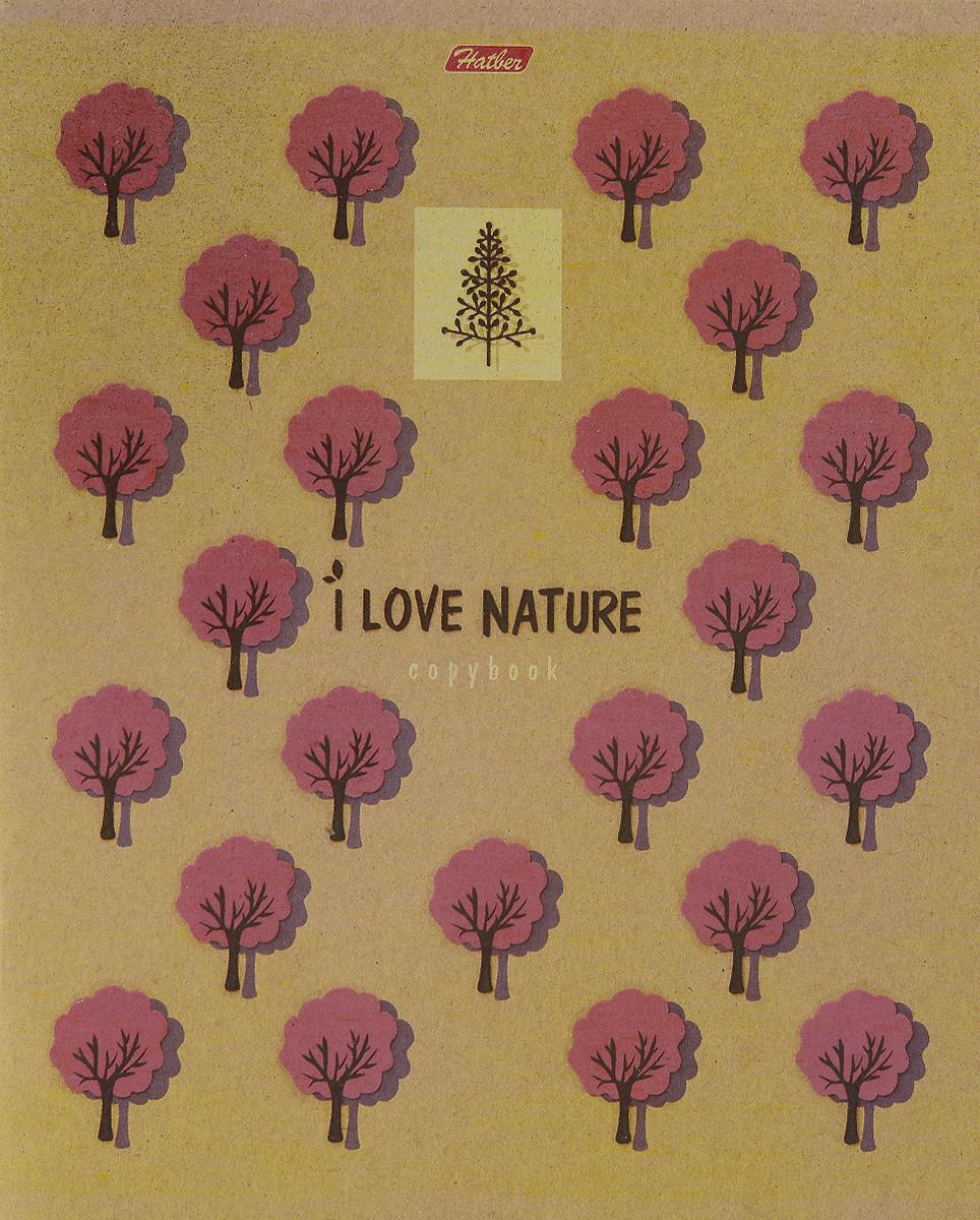 Hatber Тетрадь Деревья 48 листов в клетку48Т5влВ1_деревоТетрадь Hatber Деревья серии i Love Nature подойдет как школьнику, так и студенту. Обложка выполнена из плотного картона, что позволит сохранить тетрадь в аккуратном состоянии на протяжении всего времени использования. Обложка оформлена лаковыми изображениями деревьев. Внутренний блок тетради, соединенный двумя металлическими скрепками, состоит из 48 листов белой бумаги. Стандартная линовка в клетку голубого цвета дополнена полями.