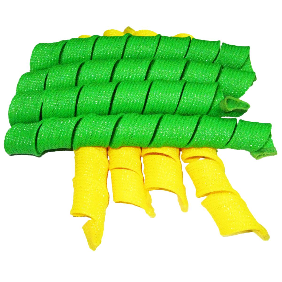 Дива Волшебные бигуди Широкие, 54 см, 18 штДШ54Бигуди этой формы помогают придать объем, быстро и без усилий обзавестись крупными и средними кудрями. Эластичная сеточка из полимерных волокон позволяет получить плавные округлые завитки без заломов. Силиконовые наконечники не дают спиралькам сползать, и при этом легко снимаются с сухих волос. Чтобы получить идеальную прическу, достаточно закрепить бигуди на волосах влажностью 60-70% и просушить их феном или оставить до утра. На мягких Magic Leverag можно проспать всю ночь, не ощущая неудобства. Все 18 широких и длинных бигуди Дива закручиваются в одну сторону, а значит вы легко проконтролируете направление локонов и равномерность укладки. Характеристики: Длина: 54 см Ширина локона: 2,2 см Диаметр завитка: 2,5 см Количество: 18 шт. Крючок: двойной Упаковка: коробка