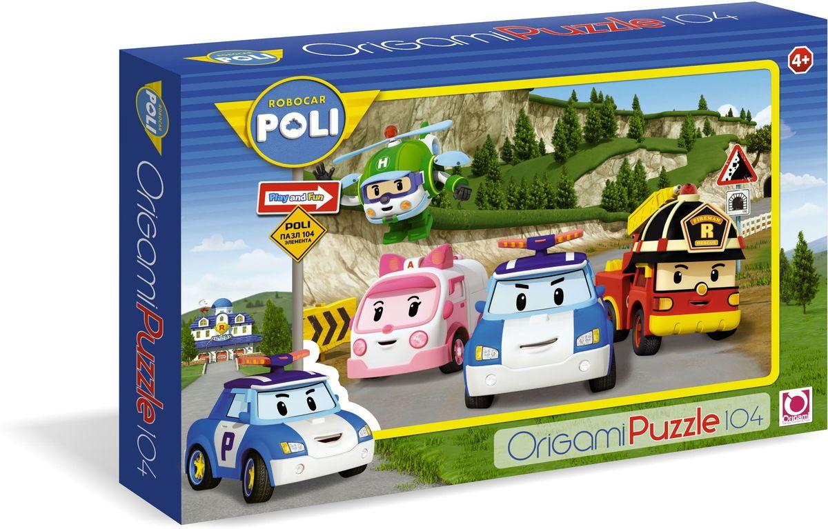 Оригами Пазл Robocar 0580105801Пазл Робокар на 104 детали. Персонажи популярного мультсериала давно полюбились малышам, они забавные и весёлые , к тому же , очень умные , они рассказывают ребёнку правилах дорожного движения, предостерегая от опасностей вблизи дороги. Играя, ребёнок может учиться новому. Размер пазла 22х33 см, рекомендуемый возраст 3+